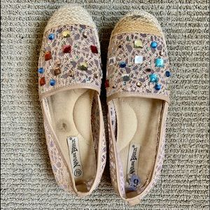 Nature Breeze sequined loafers